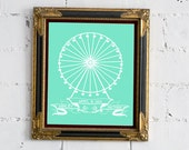 Ferris Wheel with Personalized Wedding/Anniversary Date 8x10 Print - FREE SHIPPING