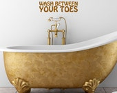 Wash Between Your Toes Decal - Black Friday / Cyber Monday Sale