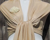 Champagne (Moccasin) Pashmina Scarf, Shawl, Wrap, bridal shawl, bridesmaids shawl, bridal gift