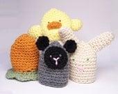 Crochet Spring Easter Egg Cozy Cosy Egg warmer - 4 pcs
