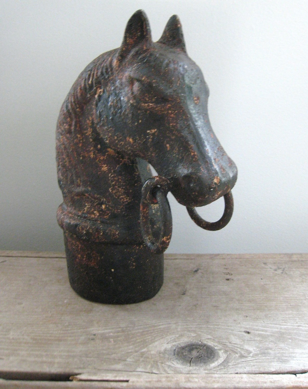 Antique Cast Iron Hitching Post Horse Head