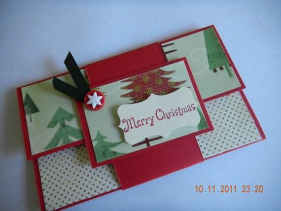 Christmas gift card or money holder