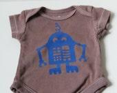 Newborn Brown and Blue Robot Onsie