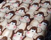 Blushing Monkey Cozy - Reversible Pet Blanket