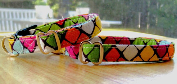 Retro Glitz - Eco Dog Collar - Small
