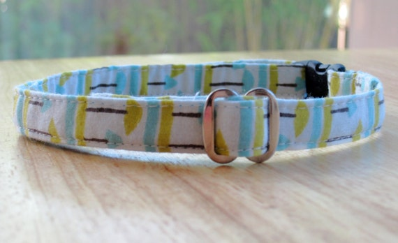 Whimsical Forest - Organic Cotton Cat Collar