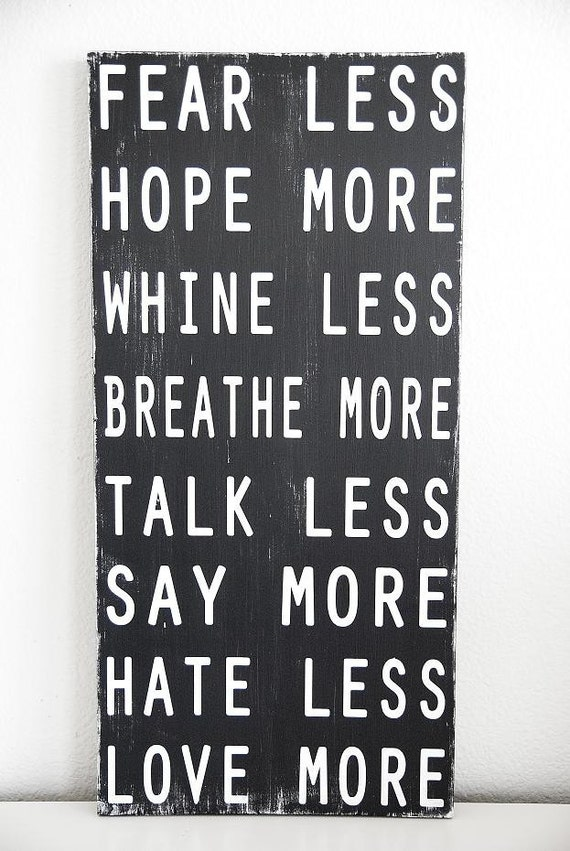 """Family Rules Sign - Typography art sign - Subway art """"Less and More"""""""