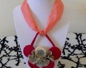 cloth bib necklace