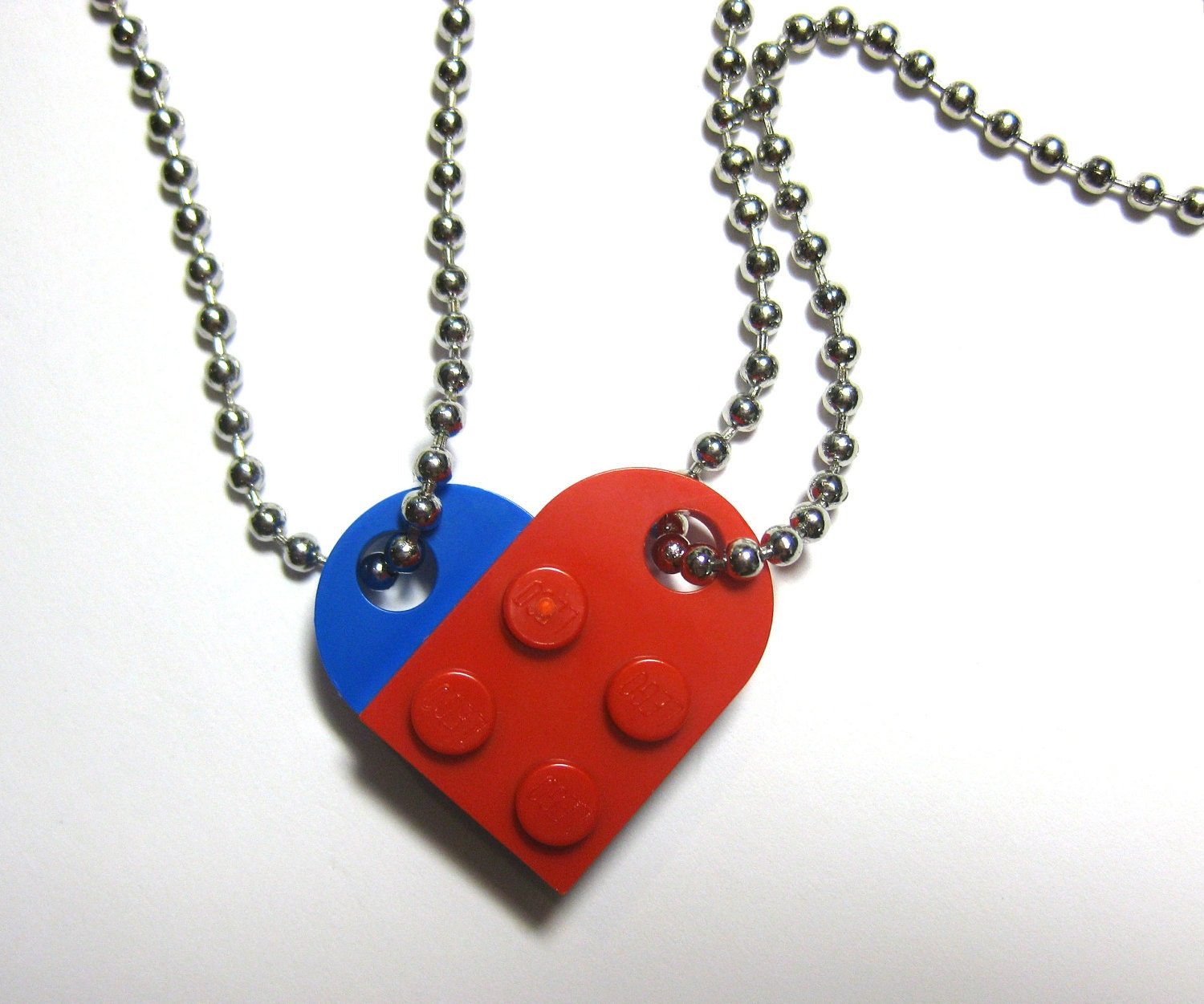 bff necklace set made of lego 174 bricks 24