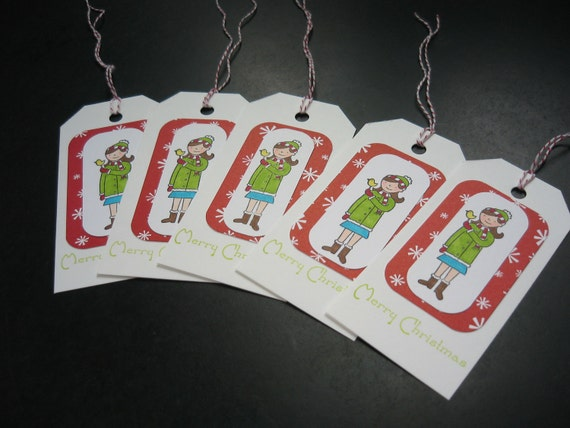 Christmas Gift Tags, Set of 5