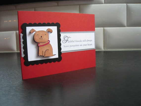 Loss of Dog Sympathy Card/Red