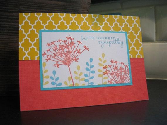 Sympathy Card, Wildflowers
