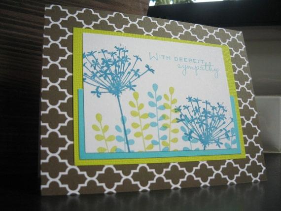 Stamped Sympathy Card Wildflowers