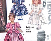 Girl's 18th Century Costume, Butterick Pattern 5821, Petticoat Dress with Flounced OverSkirt and Sleeves