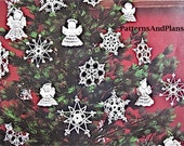Vintage Patterns for Crocheted Snowflakes and Angels