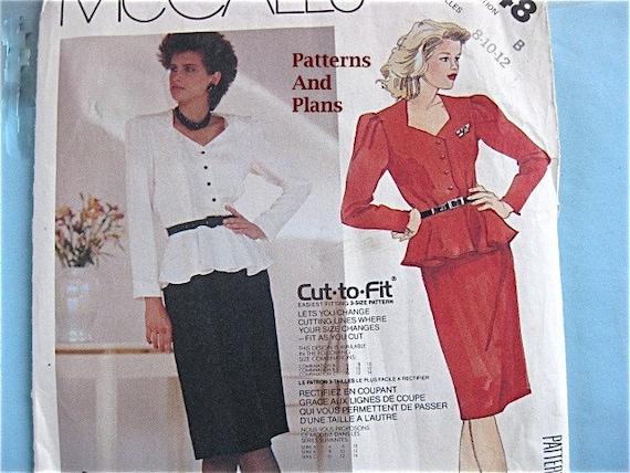 Vintage Mccalls 2948 Dress Suit Semi Formal with Shaped Neckline