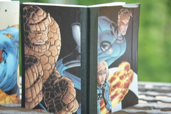 2 Fantastic 4 comic mini notebooks - Mr Fantastic, The Thing, and MORE