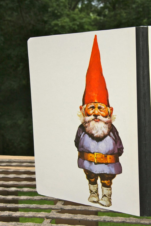 Classic Vintage Gnome art on a composition notebook
