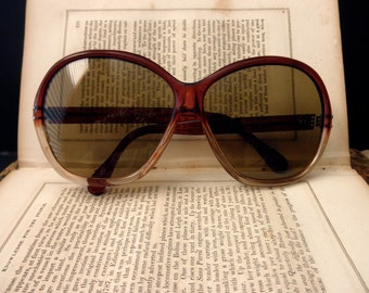 vintage tortoise shell sunglasses - large, made in France