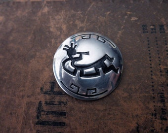 vintage sterling silver pin - kokopelli