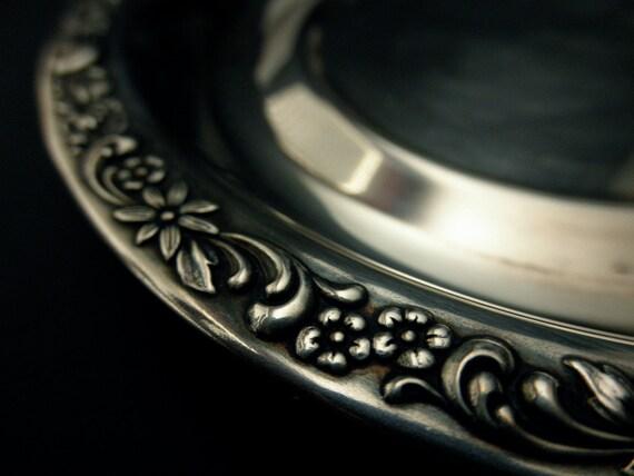 vintage silverplate wine coaster-Community Silver Co