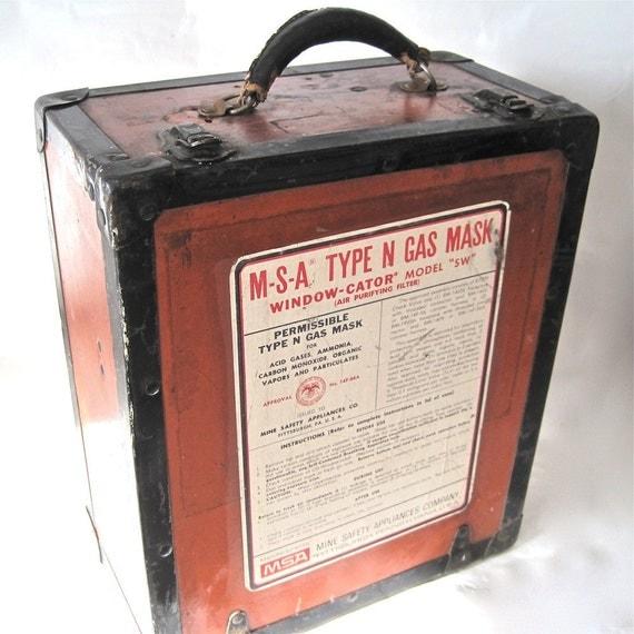 Vintage Gas Mask Storage Box