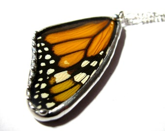 Monarch Butterfly / Real Butterfly / Butterfly Pendant / Butterfly Jewelry