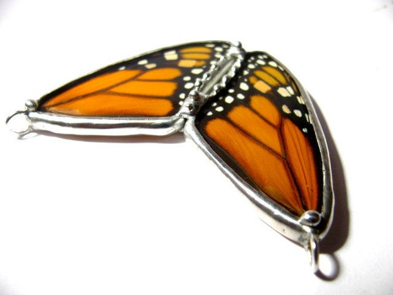 Insect Jewelry Recycled Monarch Butterfly Necklace