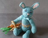 FREE SHIPPING  Miniature Thread Artist Easter Bunny
