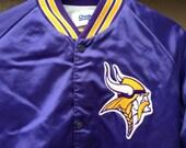 Vintage Minnesota Vikings Snap-Button Jacket