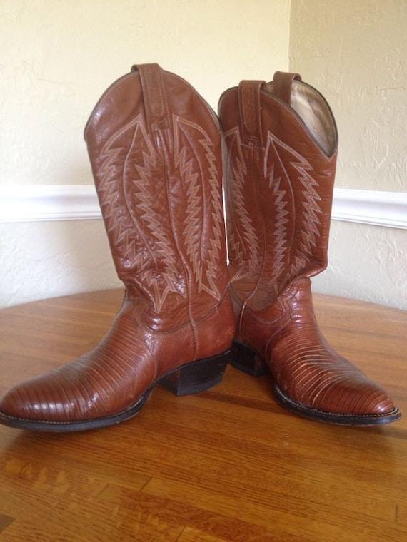 SALE - Vintage Montana Cowboy Boots (Size 8.5)