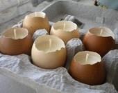 Last Set - Limited Time - Natural Egg Candle - Half Dozen
