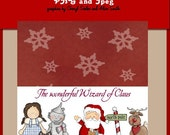 Wizard of Claus Bag Topper JPEG (graphics by cheryl seslar and alice smith)