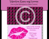 """Valentine's """"Kiss"""" Bag Topper (poem by Dixie Bahma graphics by Maree Truelove"""