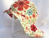 Faded flowers sunhat, summerhat, retro, vitage inspired, girls, 50 cm