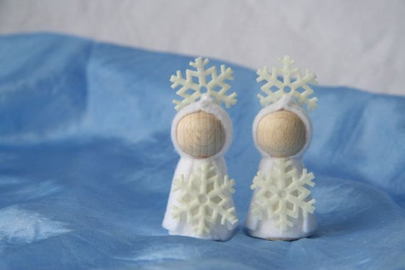 two snowflake  for your nature table / winter