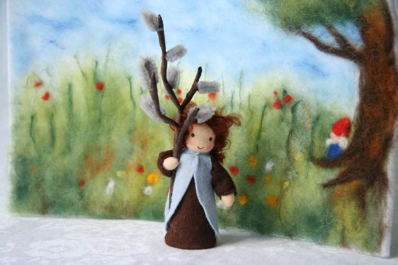 Willow child for your nature table / Winter / springtime / waldorf