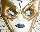 Vintage Venetian Carnival Mask Mardi Gras Cinco de Mayo