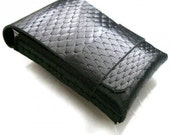 Leather Wallet-Men Wallet-Leather Card Holder-Diamond Black-Free Monogramming-Handmade