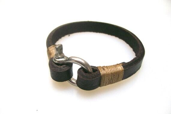 bracelet for him leather bracelet mens bracelet