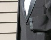 vintage 1960's swingin' Vegas style Rat Pack tuxedo with wild satin trim. 40 Long...WOW