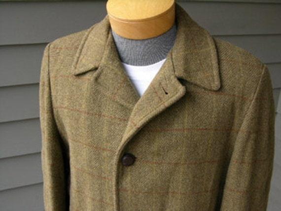 vintage 1950's 1960's Men's Tweed car coat.