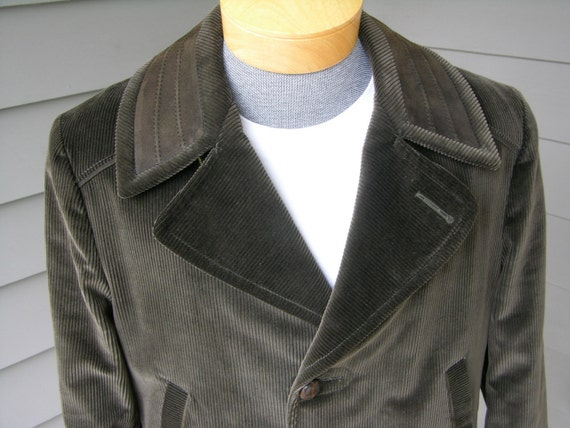 vintage 1960's Men's Corduroy Car coat. 'New Old