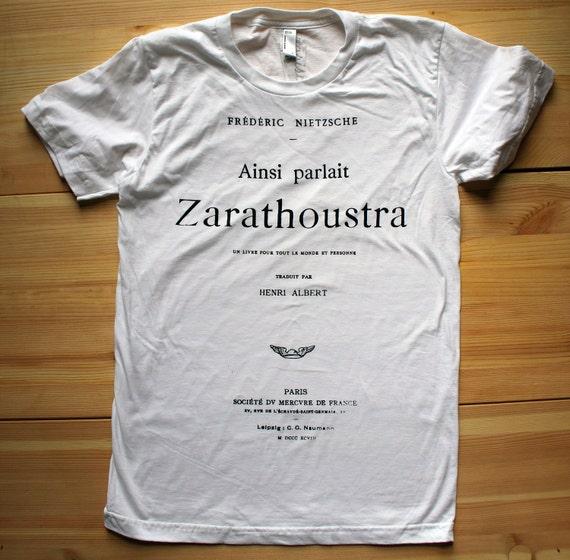 Nietzsche - Book Tee - MEN - White - Small