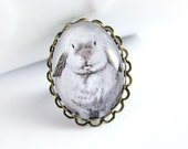 White Bunny Ring