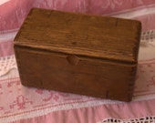 Antique Wooden Box with Sewing Tools inside dated 1889