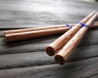 """Wooden chopsticks unique & high quality 100% handmade """"15"""""""