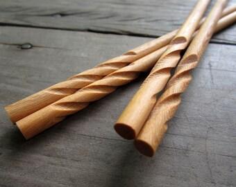"""Wooden chopsticks unique & high quality 100% handmade """"31"""""""