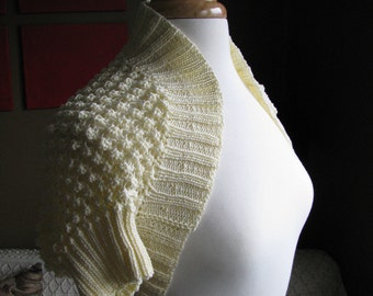 Popcorn Lace Shrug Pattern--PDF
