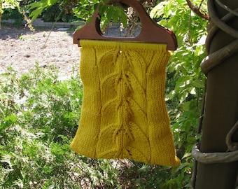 Leaf Lace Bucket Bag pattern--PDF